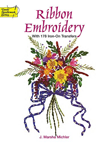 Embroidery Library - Ribbon Embroidery With 178 Iron-On Transfers (Dover Iron-On Transfer Patterns)