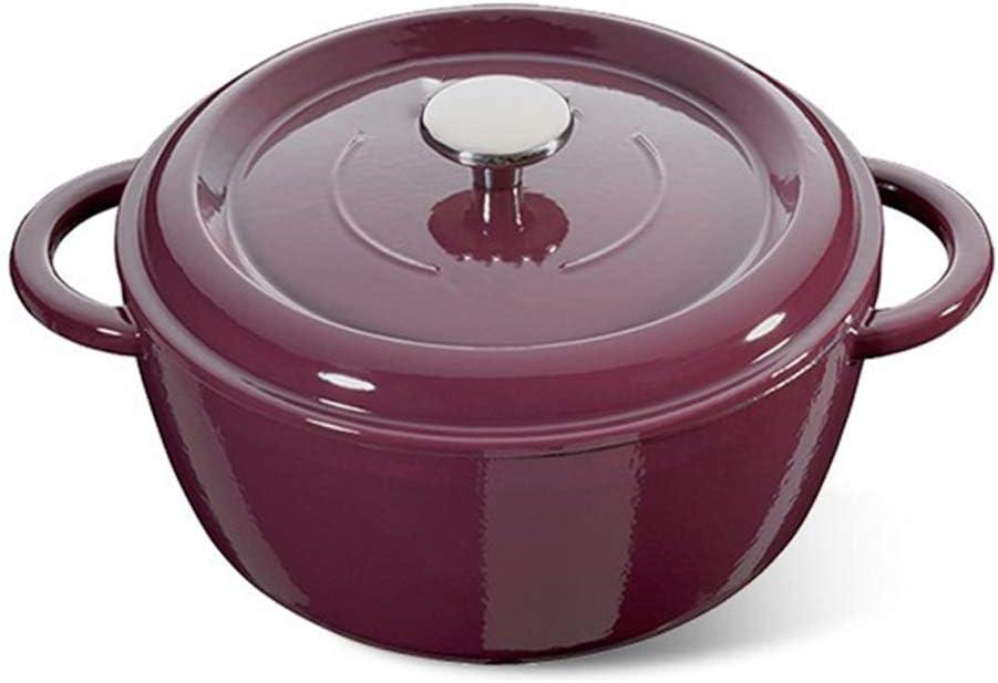 Cacerola De Cerámica Cacerola de hierro fundido,Esmalte Hierro fundido Sopa Estofado Olla Cocina de inducción/Estufa de gas Universal-mintgreen
