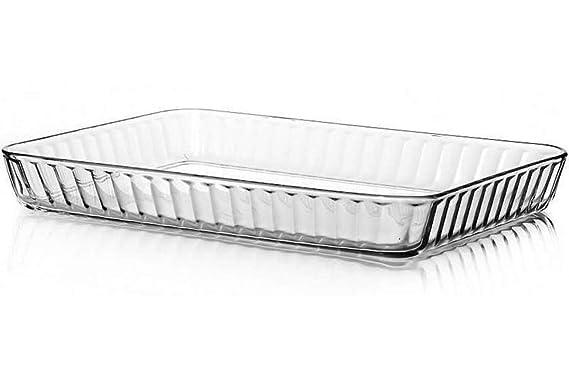 Amazon.com: Bandeja de vidrio para hornear para horno ...