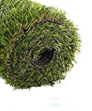 GOLDEN MOON Realistic Artificial Grass Mat 5-Tone Thick Outdoor Turf Rug 0.98in(25mm) Blade Height Series Green 3'x 5'(15sq ft)