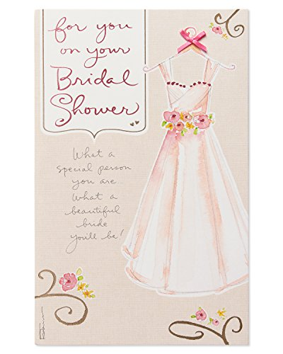 Dress Happy Bridal Shower Wedding Card with Foil ()