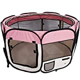 Baby Playpen PlayYard Folding Portable withTravel Bag Indoor Outdoor Pet Fence Puppy 45