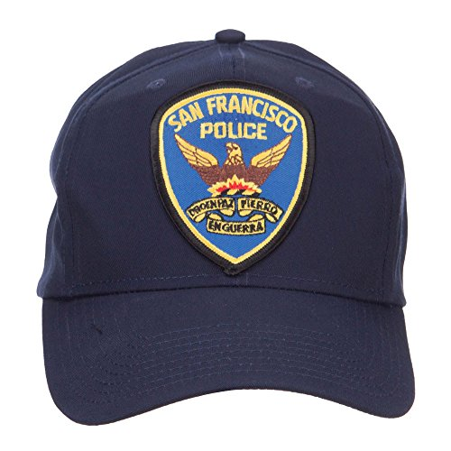 E4hats San Francisco Police Seal Patched Cotton Twill Cap - Navy - Police Cotton Hat