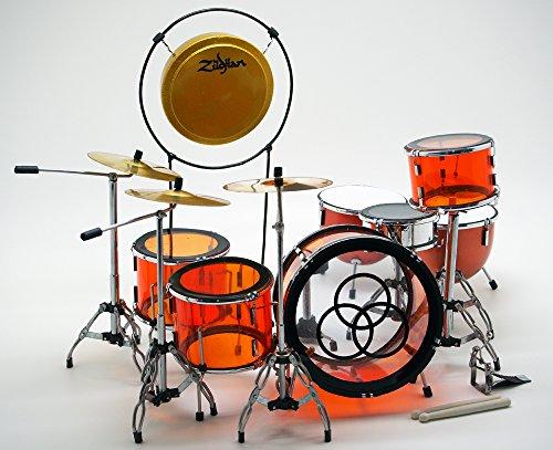 [해외]★ 프리미엄 ★ Musical Story 소형 램 플 린 존 본 햄 LUDWIG TRANSPARENT / ★ Premium ★ Musical Story Miniature Drum Led Zeppelin John Bonham LUDWIG TRANSPARENT