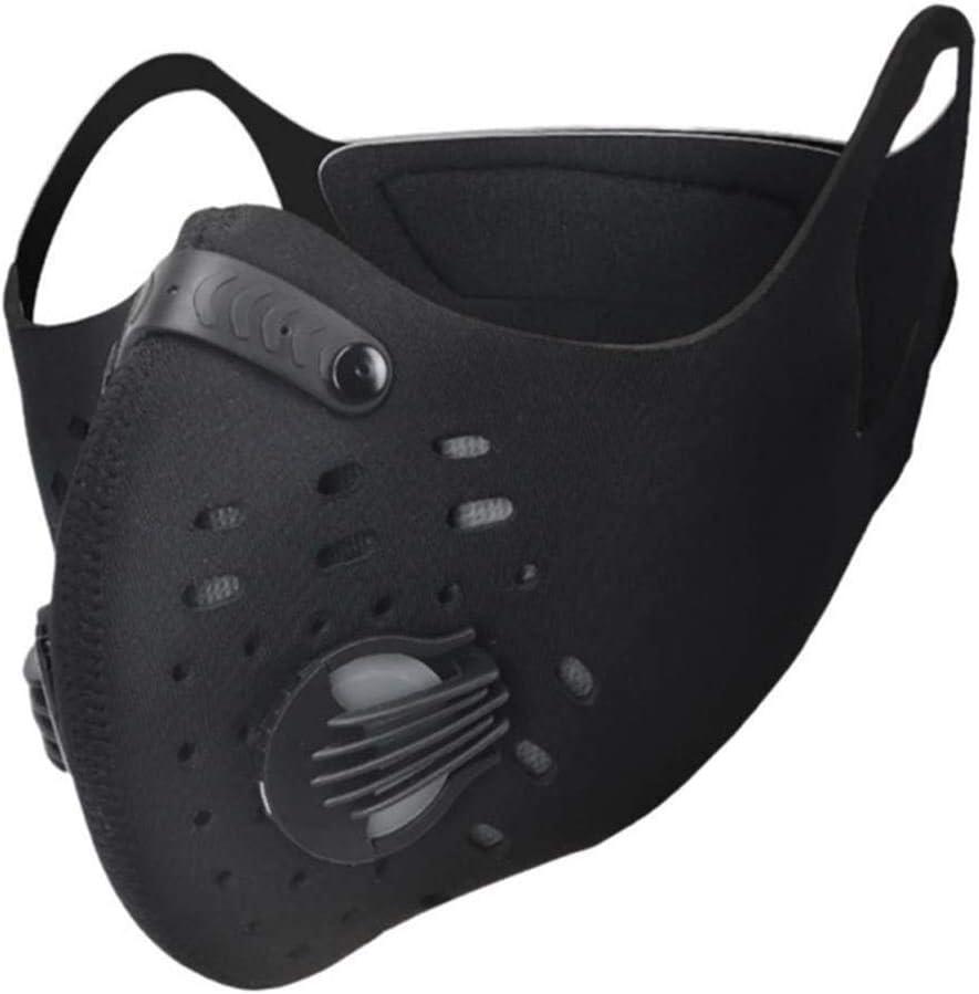 FASFSAF PM2.5 Máscara De Carbón Activado Máscara De Ciclismo A Prueba De Viento Bicicleta Antipolvo Media Cara Máscara De Invierno Máscara De Deportes Al Aire Libre Toda La Temporada Nuevo