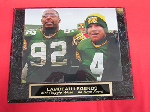 Brett Favre Reggie White Green Bay Packers Engraved Collector Plaque w/8x10 ()