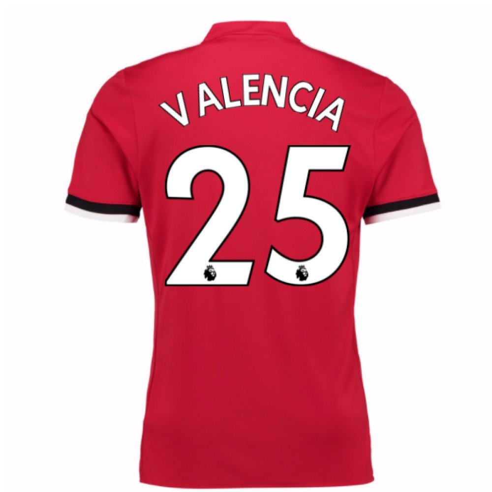 2017-2018 Man United Home Football Soccer T-Shirt Trikot (Antonio Valencia 25)