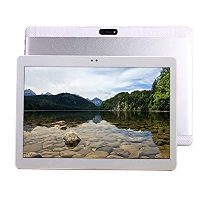 2017 Newest 10 inch Tablet PC Octa Core 4GB RAM 64GB ROM Dual SIM Cards Android 5.1 GPS 3G 4G LTE Tablet PC WIFI GPS 7 8 9 10 FMT computer (silver)