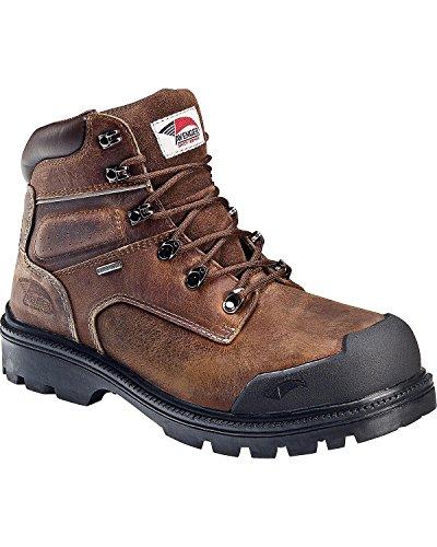 Avenger Men's Waterproof Breathable Work Boot Steel Toe Brown 14 EE - Toe Core Steel
