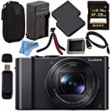 Panasonic Lumix DMC-LX10 DMC-LX10K Digital Camera + DMW-BLH7 Lithium Ion Battery + Charger + Sony 128GB SDXC Card + Case + Flexible Tripod + HDMI Cable + Memory Card Wallet + Fibercloth Bundle
