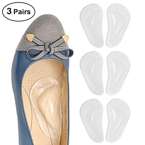 Dr. Foot's Arch Support Shoe Insoles for Flat Feet, Gel Arch Inserts for Plantar Fasciitis, Adhesive Arch Pad for Relieve Pressure and Feet Pain- 3 Pairs (Clear) (Best Foot Arch Support)