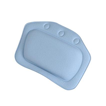 Divine Overseas Home Bathroom Use Neck Spa Support Relax Shower Foam Sponge Soft Bathtub Pillow Bath Headrest Dark Blue