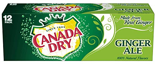Canada Dry Ginger Ale Soda, 12 Ounce (12 Cans) (Canada Dry Mandarin Orange Sparkling Seltzer Water)