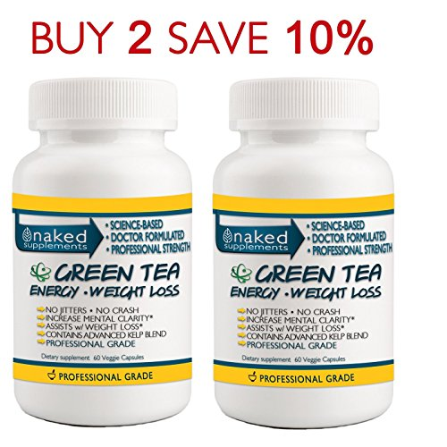 Focused Energy with Green Tea 2 Bottles 120 Capsules