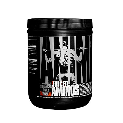 Universal Nutrition Animal Juiced Aminos Enhanced BCAA and EAA Instantized Amino Acid Supplement, Orange, 30 Count, 368 gms