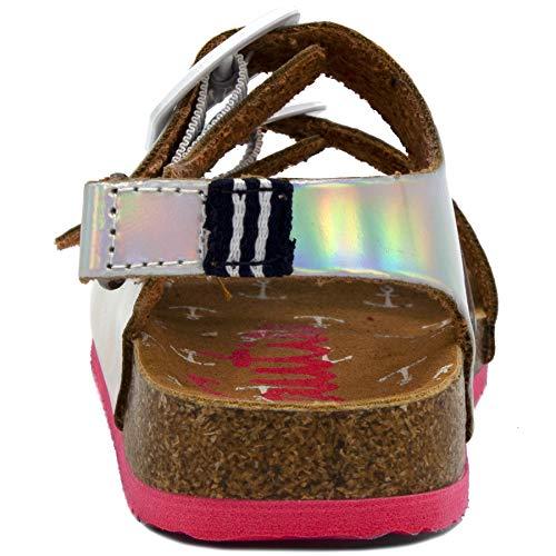 Nautica Kids Grant Toddler Open Toe Sandal 2 Buckle Straps Comfort Slide Outdoor Back Strap Casual Sandals (Toddler/Little Kid)