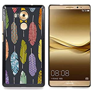Quill Grey Pattern Writer Grey Caja protectora de pl??stico duro Dise?¡Àado King Case For Huawei Mate 8