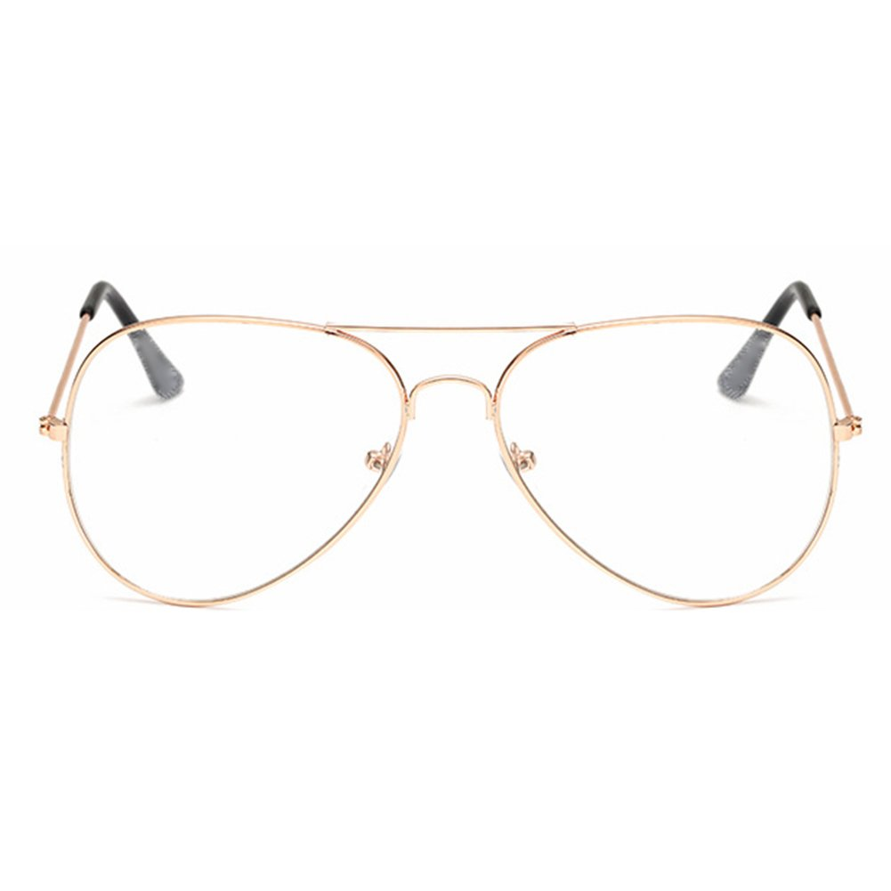 Aviador Gafas para niños - Gafas de lentes transparentes marco Geek ...