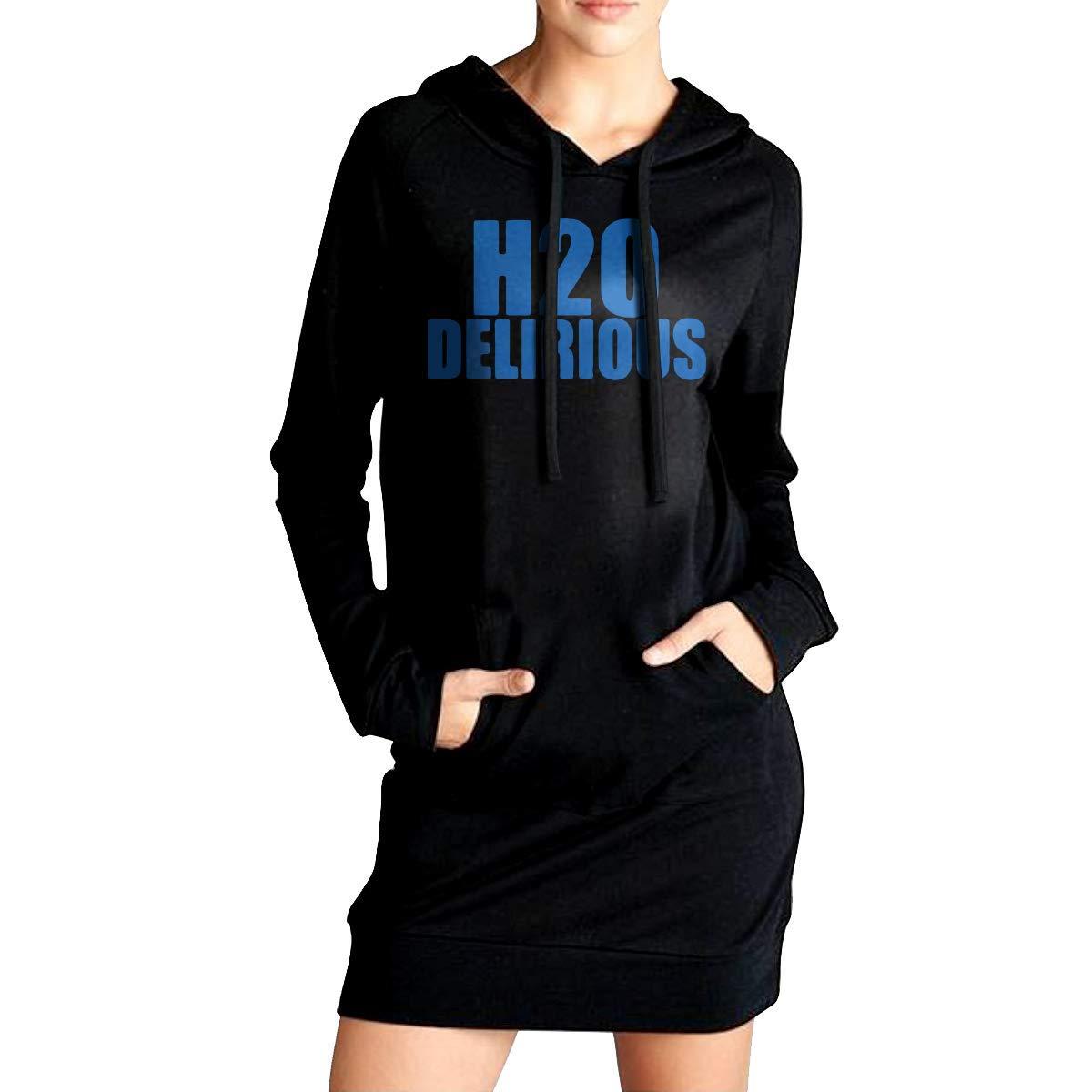 Warm 100/% Cotton Sportswear for Youth YANGLIUSHU Womens H2O Delirious Long Hooded Sweatshirt