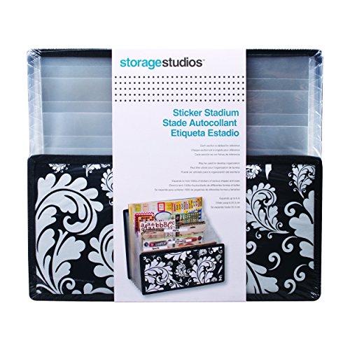 Storage Studios Projections Sticker Stadium Storage, 11.25 x 8 x 13.375 Inches, Black and White (CH92651)