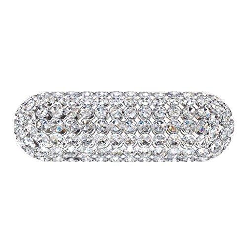 Kendal Lighting VF6500-3L-CH Venetia 3-Light Vanity Fixture, Chrome Finish and Optic Crystal (3l Bath Sconce)