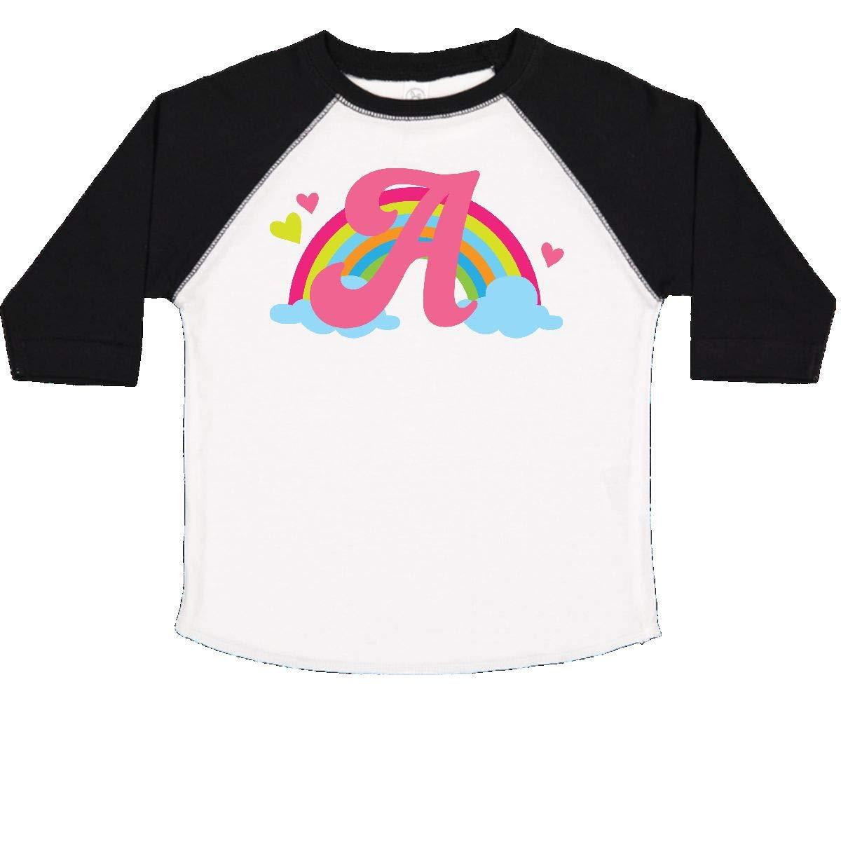 inktastic Monogram Letter a Rainbow Toddler T-Shirt