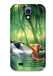 Durable Protector Case Cover With Nature Lady Hot Design For Galaxy S4 by icecream design
