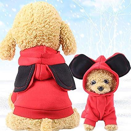 Ropa de Invierno para Mascotas Ropa para Perros Perros de Dibujos Animados Mascotas Ropa para Perros