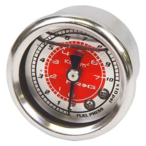 NRG Innovations FRG-200RD Fuel Regulator Gauge Red 100psi