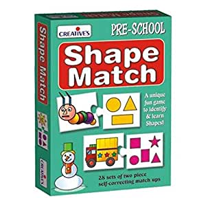 Creatives pre school, shape match learning activity, english, 3 years and above - 56 pieces