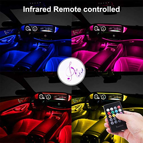 Colorful LED Strip Lamp UnderDash Lighting Kit Music Mode Interior Light Daytime Running Lights Accessories Fit Volkswagen vw up scirocco phaeton amarok eos jetta beetle cc passat b6 b5 golf mk4 Parts