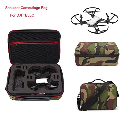 Drone_Tello DJI TELLO UAV Shoulder Bag Crossbody Bag Camo DJI TELLO UAV Shoulder Bag Cover EVA Waterproof (Camouflage) by Drone_Tello