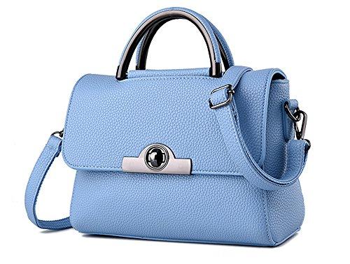 Bolsos de señora Xinmaoyuan dama bolsa Bandolera Bandolera Pequeña bolsa cuadrado Luz azul