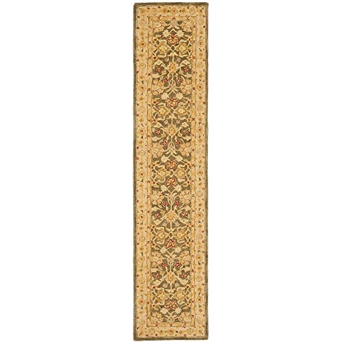 Safavieh Anatolia Collection AN553A Handmade Traditional Oriental Olive Grey and Beige Wool Runner (2'3