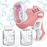 VASG Bubble Gun Blaster with Bubble Solution and Battery for Kids, Bubble Machine with Colorful Lights and Controllable Music