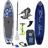 "Anahola Board Co. - Blue Lotus 6 - 10' 6"" x 32"" x 6"" Designed in Canada Inflatable Stand Up Paddleboard - COMPLETE PACKAGE"