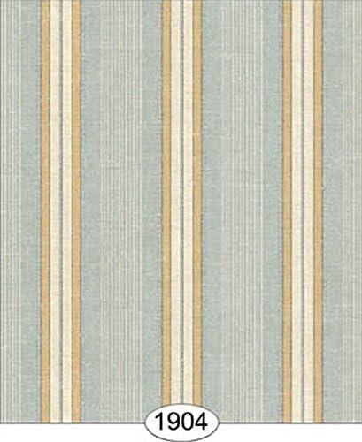 Dollhouse Miniature Striped Wallpaper Yellow /& Gray Blue 1:12 Scale