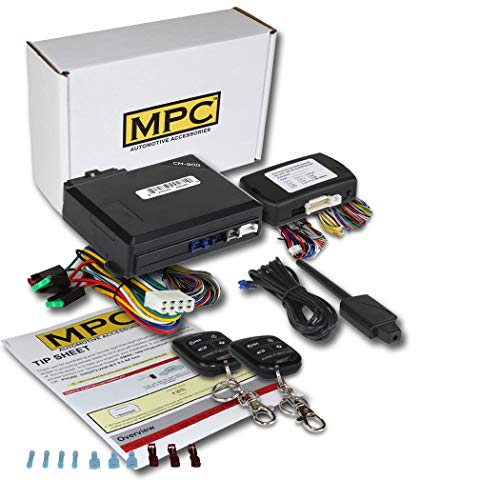 MPC Complete Remote Start & Keyless Entry Kit for 2012-2015 Toyota Tacoma with Key to Start - Includes (2) 4 Button ()