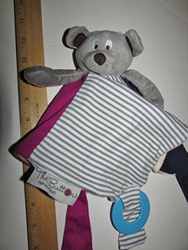 11'' 33cm Mamas & papas bear doll Babyplay Kawaii Plush Towel Plush Mini Teddy Bear Teether for Stroller Kids - Stone 11'