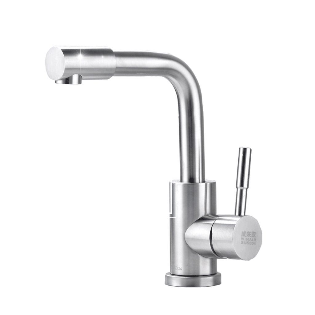 Kitchen faucet RXL Kitchen sink hot and cold water faucet Wash basin faucet redary faucet 304 stainless steel faucet