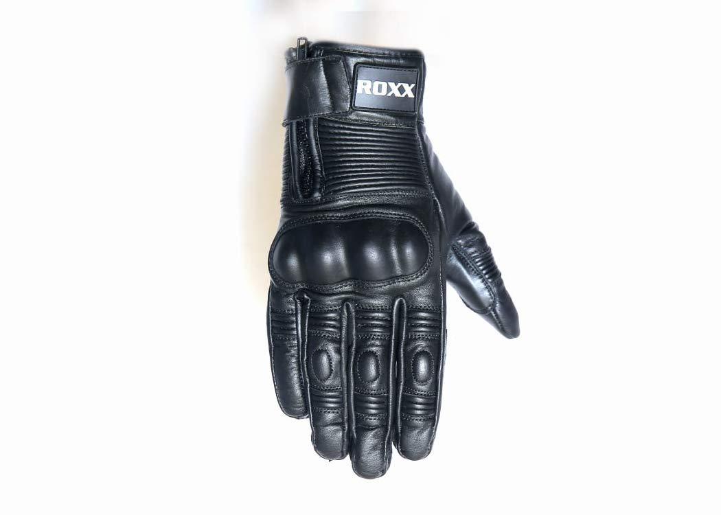 XL Leather Motorbike Motorcycle Bike Heavy Duty Waterproof Winter Thermal Carbon Shell Gloves By ROXX
