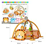 LATINKIS Baby Play Mat - 3 in 1 Baby Activity Gym