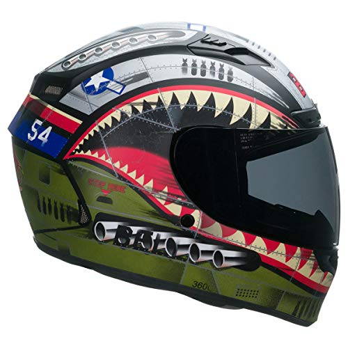 Bell Qualifier DLX Full-Face Motorcycle Helmet (Matte Devil May Care, - Racing Bell