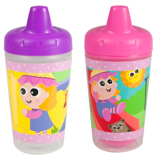 Lamaze Set of 2 Insulated Sippy Cups, My Friend Emily, 9 ounce, Baby & Kids Zone