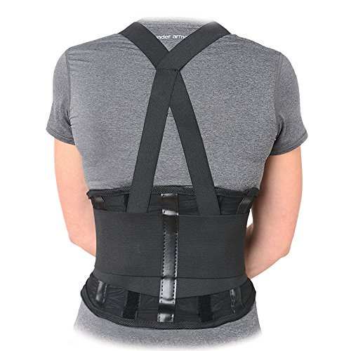 Small Shoulder Pull (Premium Industrial Back Brace Lumbar Support with Double Pull Shoulder Straps and Adjustable Suspenders - 2X Large)