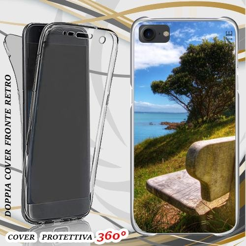 CUSTODIA COVER CASE panchina panorama PER IPHONE 7 FRONT BACK