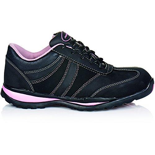 """ruNNex 5280-36 Chaussures de sécurité Femme """"Girlstar"""" S2 Taille 36 Noir/Rose"""
