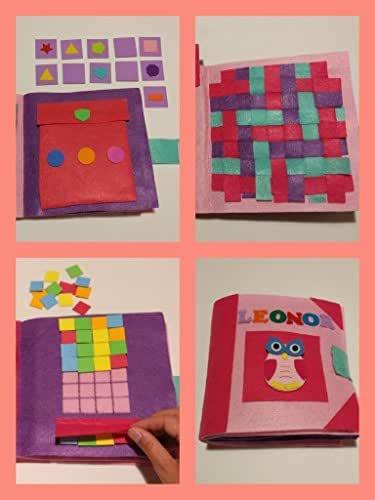 QUIET BOOK ROSA. LIBRO sensorial con 3,4,6 ó 8 actividades