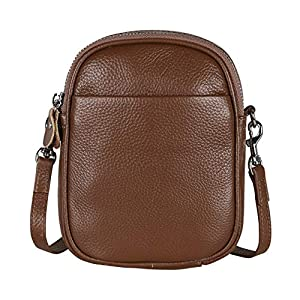 befen Genuine Full Grain Leather Small Cell Phone Crossbody Wallet Purse Bags for Women with Key Ring
