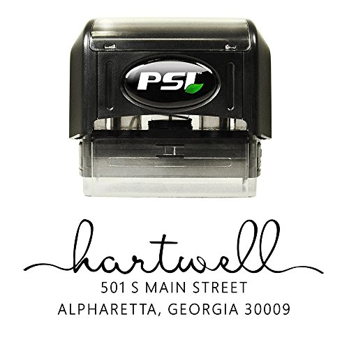 Modern Self Inking Stamp Thank You Notes Pre Inked Housewarming Gift Custom Address Stamper Personalized Wedding